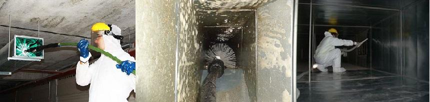 Процесс очистки вентиляции